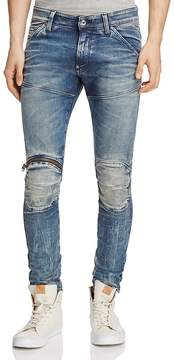 G Star 5620 3D Distressed Super Slim Jeans in Light Aged