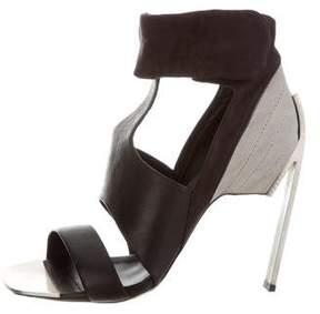 Vic Matié Leather T-Strap Sandals w/ Tags