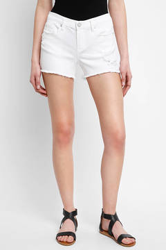 Blank Distressed High Rise Cut Off Shorts