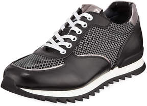 Karl Lagerfeld Paris Men's Jogger Mesh-Trim Sneakers
