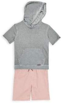 Hudson Little Boy's Two-Piece Cotton Hoodie and Shorts Set
