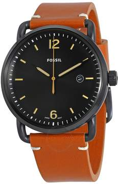 Fossil Commuter Black Dial Brown Leather Men's Watch