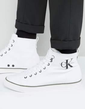 Calvin Klein Arthur Logo Hi Top Canvas Sneakers