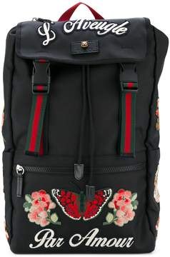 Gucci embroidered techpack