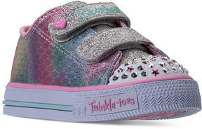 Skechers Toddler Girls' Twinkle Toes: Shuffles - Ms. Mermaid Light-Up Casual Sneakers from Finish Line