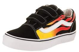 Vans Kids Old Skool V (flame) Skate Shoe.