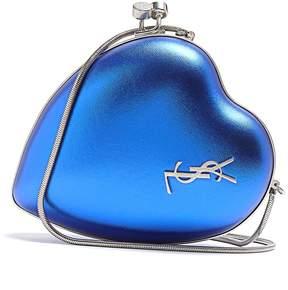 Saint Laurent Love leather cross-body bag - BLUE - STYLE