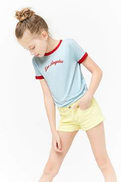 Forever 21 Girls Los Angeles Graphic Ringer Tee (Kids)