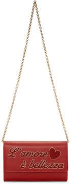Dolce & Gabbana Red LAmore e Belezza Chain Bag