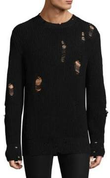 IRO Long-Sleeve Perforated Sweater