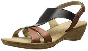 Bella Vita Womens Gubbio Leather Colorblock Slingback Sandals