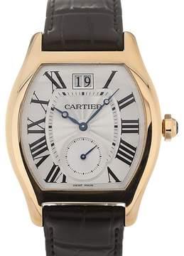 Cartier Tortue Silver Flinque Dial Men's Watch