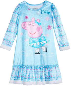 Peppa Pig Nightgown with Faux-Fur Trim, Toddler Girls (2T-5T)