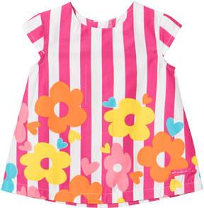Agatha Ruiz De La Prada Pink Striped Flower Print Dress