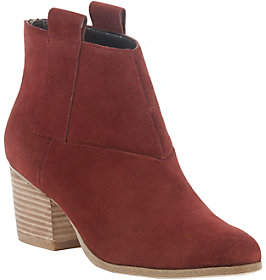 Sole Society Pull On leather Ankle Boots - Oskar