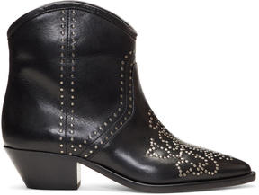Isabel Marant Black Dollan Studded Boots