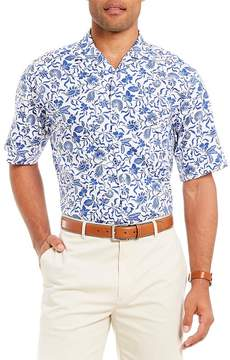 Daniel Cremieux Signature Printed Short-Sleeve Woven Camp Shirt