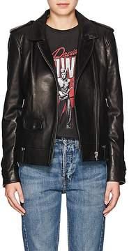 IRO Women's Dumont Ruffle-Trimmed Leather Jacket