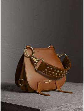 Burberry The Bridle Bag in Leather and Alligator - TAN - STYLE