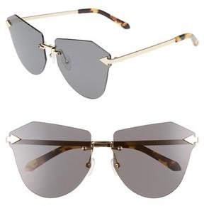 Karen Walker Women's Dancer 60Mm Rimless Sunglasses - Crazy Tortoise/ Gold