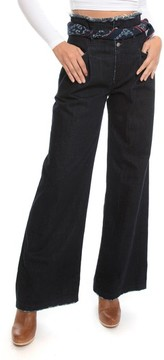 PRPS Women's Desoto High Waist Wide Leg Jeans