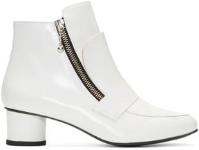 Opening Ceremony White Zan Loafer Ankle Boots
