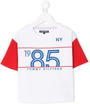 Tommy Hilfiger Junior contrast sleeve T-shirt