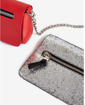 Express Silver Glitter Changeable Flap