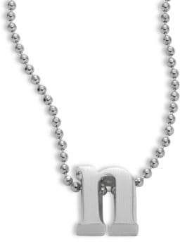 Alex Woo Icon Sterling Silver N Pendant Necklace