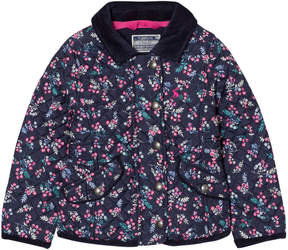 Joules Navy Floral Print Quilted Jacket