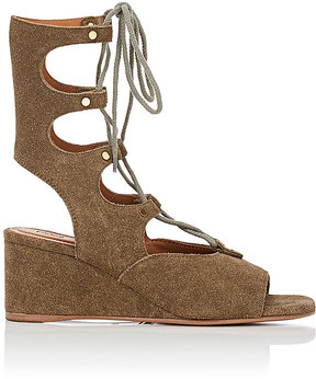 Chloé WOMEN'S CROSTA GLADIATOR WEDGE SANDALS