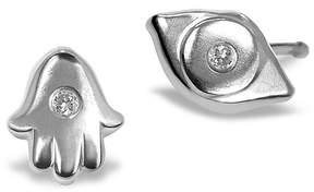 Alex Woo Women's Sterling Silver & Diamond Stud Earrings