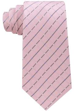 Michael Kors Metropolis Grid Necktie Pink One Size