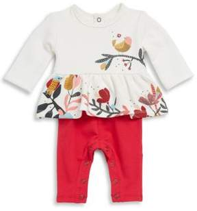 Catimini Little Girl's Bird Print Tunic & Leggings Set