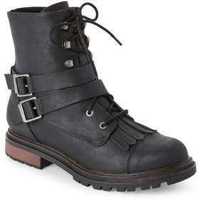 Rocket Dog Black Laci Zip Combat Boots