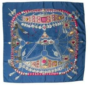 Hermes Terres Precieuses Silk Scarf