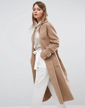 Fashion Union Full Length Smart Over Coat