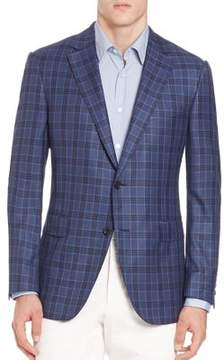 Saks Fifth Avenue COLLECTION BY SAMUELSOHN Classic-Fit Tonal Glencheck Plaid Blazer