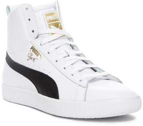 Puma Clyde Mid Core Leather Foil Sneaker