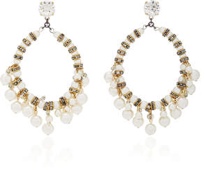 Erickson Beamon Pretty Woman 24K Gold-Plated Crystal And Pearl Earrings