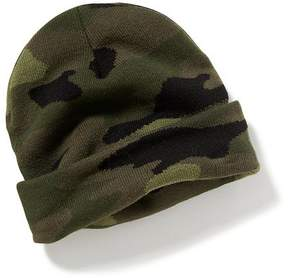 Old Navy Camo Roll-Brim Sweater Beanie for Men