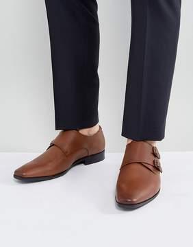 Aldo Nodia Monk Shoes In Tan