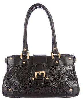 Christian Lacroix Leather-Trimmed Python Bag