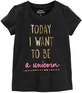 Osh Kosh Oshkosh Bgosh Girls 4-12 Today I Want to be a Unicorn Foil Graphic Tee