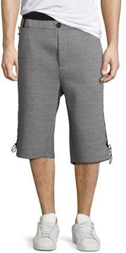 Public School Mayu Neoprene Sweat Shorts, Gray/Black