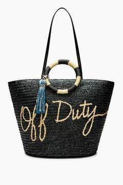 Rebecca Minkoff Straw Tote - Off Duty - ONE COLOR - STYLE
