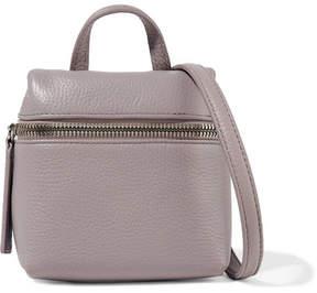 KARA - Micro Textured-leather Shoulder Bag - Taupe