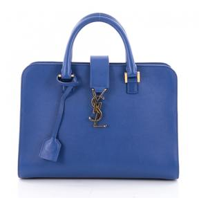 Saint Laurent Blue Leather Handbag - BLUE - STYLE