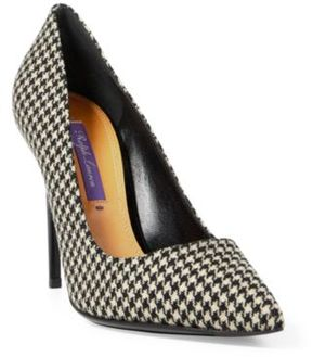 Ralph Lauren Celia Houndstooth Pump Black/Cream 7.5
