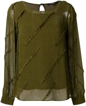 Odeeh frayed design blouse